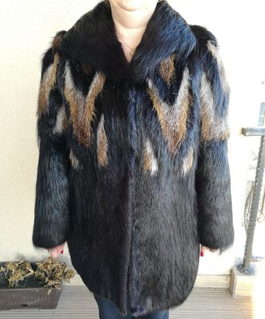 Haina / palton de blana naturala