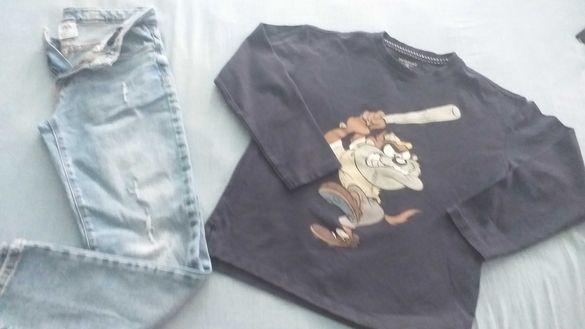 Фирмен лот за момче, дънки Зара и блуза размер, като нов-50лв.