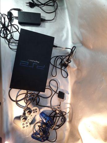 Playstation 2 Sony cu manete ,încărcător,adaptor,consolă