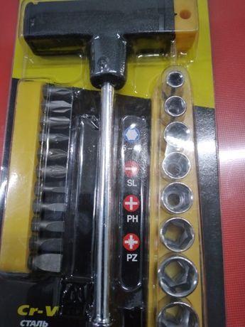 НАБОР STAYER 1-образная отвертка с битами и торцовыми головками, 21 ПР