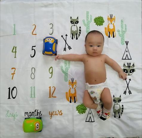 Фото пелёнка для малыша с рождения для фото на память