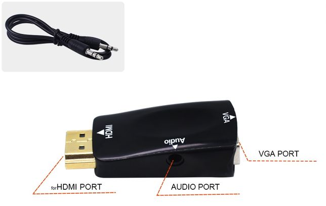 Переходник HDMI на VGA с аудио для андройд и тв приставок