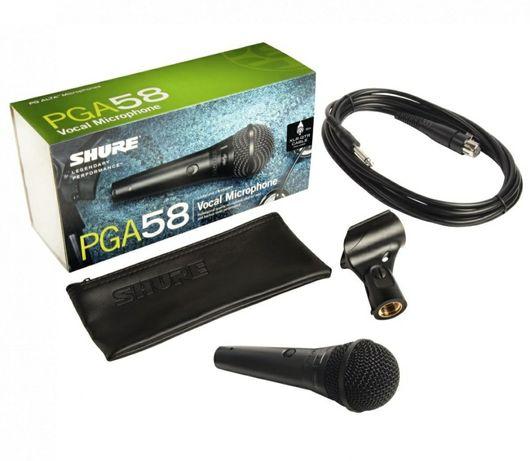 Microfon Shure PGA58 cu fir dinamic cardioid profesional