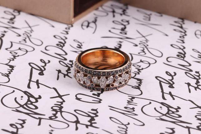 0% кольцо с черн брилл, золото 750 (18K), вес 15.33 г. «Ломбард Белый»