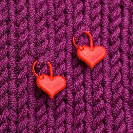 Addi Stitch markers accesorii semn rand crosetat tricotat inimioare