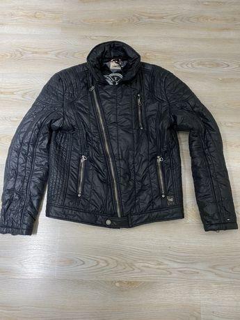 Пухено яке Tommy Hilfiger Biker Jacket