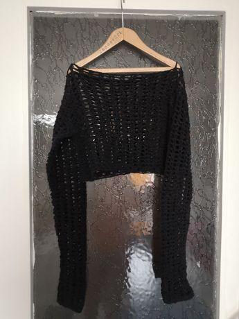bluză crop top tricotaj