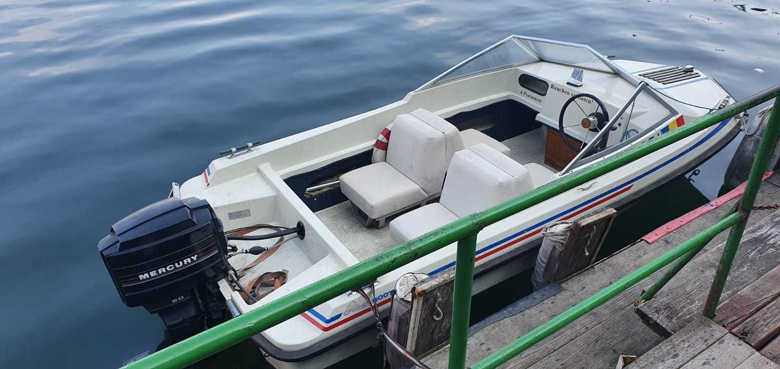 Barca ELAN 435 cu motor MERCURY 60CP si peridoc inmatriculate RO