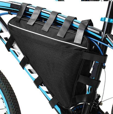 Голяма триъгълна непромокаема чанта за велосипед, чанта за батерия