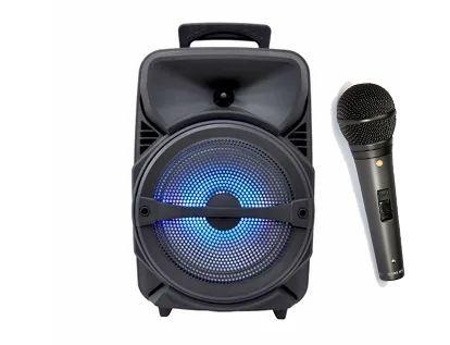 Колонка караоке, беспроводная с микрофоном блютуз колонка. Аудио