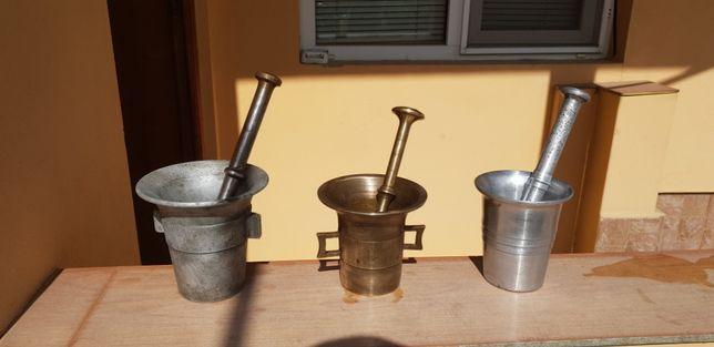 2 X Mojar cu Pistil, Aluminiu si Fonta (de colectie)
