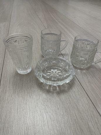 Хрустальные стаканы (пепельница)