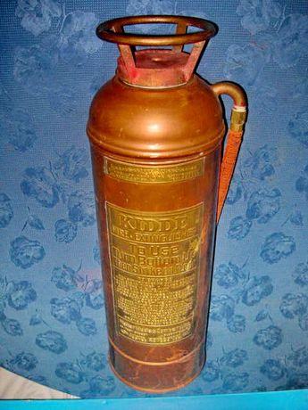 7920-Stingator mare Pompieri vechi 1914 bronz KIDDE USA Extinguisher.
