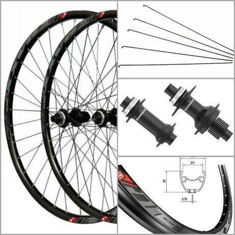 27,5 Shimano - Mach1-12sp E-Thru Disc Tubeless Wheelset Сет Капли