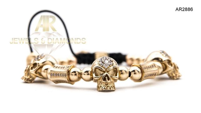 Bratara Aur ARJEWELS Skull Collection model NOU (AR2886)