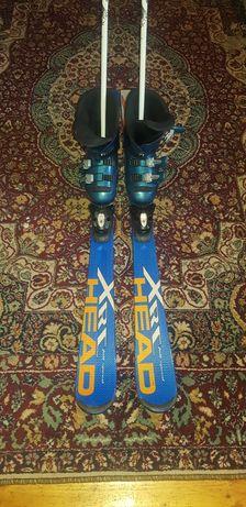Ски комплект - ски, автомат, обувки и щеки
