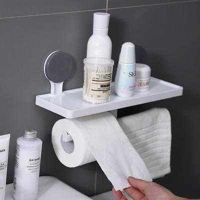 Suport hartie igienica cu raft si suport prosop (cadou)
