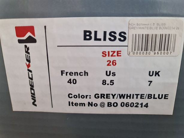 Ботинки для сноуборда женские Nidecker Bliss 40/ us8.5 / uk7