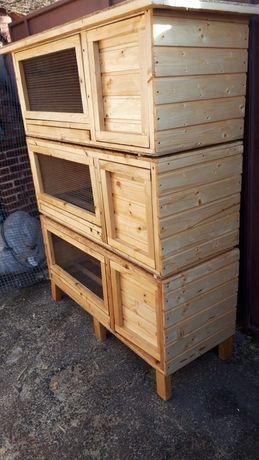 Cușcă speciala iepuri cu tavita și grilaj dejecti precum și accesori