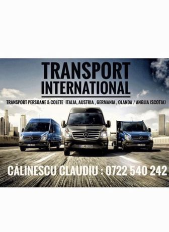 Transport persoane si colete Anglia, Italia, Germania, Belgia
