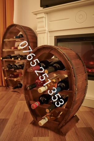 Suport Raft sticle vin/ Ideal Cadou / Nou