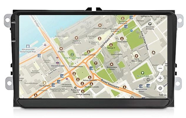 """Navigatie Auto DVD 9"""" Android 10 Volkswagen VW Skoda Seat WiFi,GPS"""
