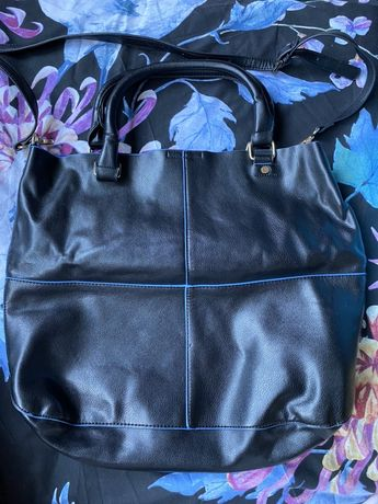 Черна голяма чанта Mohito с къса/дълга дръжка