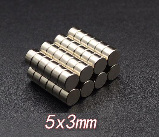 Силни малки Неодимови магнити 5мм.x3мм.
