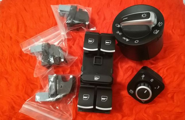 Set butoane auto geamuri ,faruri,Volkswagen Golf,Jetta ,Passat,cromate