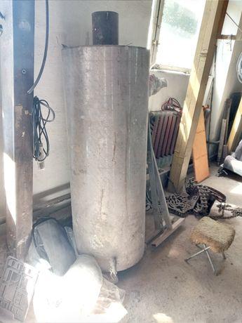 Титан. Нержавейка На газовом и на твёрдом. Металло 200л тройка печь