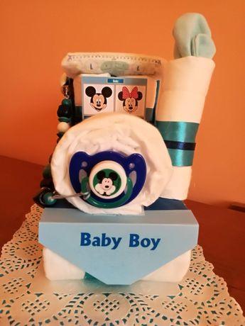 Бебешка торта от памперси