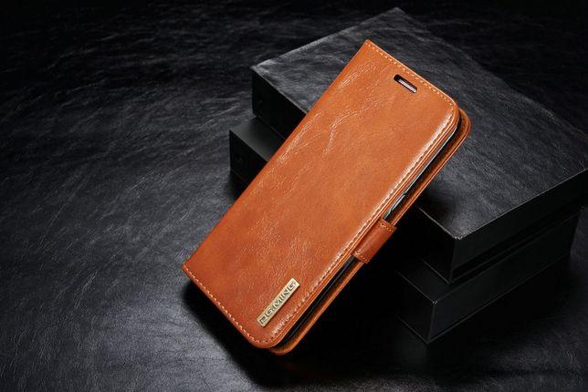 Husa piele Samsung S7 Edge, 2in1 curelusa mana, magnetica, CaseMe