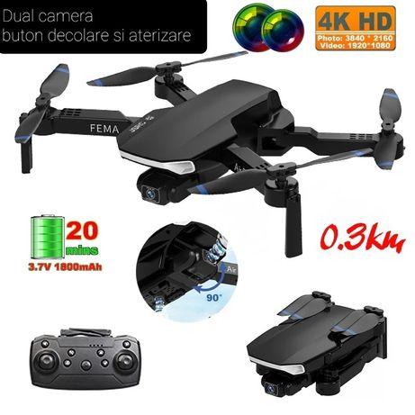 Drona camera 4K,marime 38 cm,Zbor 20min,D 300 metri,geanta cadou Noua,