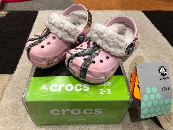 Crocs-Нови бебешки буйки/пантофи №17-18