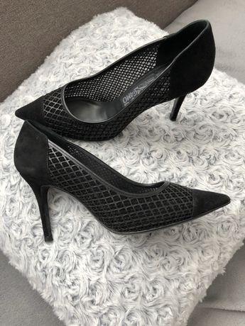 Pantofi stiletto negrii