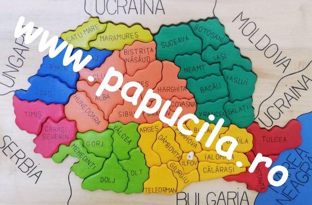 Harta Romaniei Puzzle