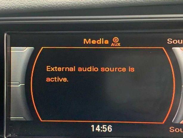 Activare Auxiliar Audio AUX Codare Audi A4 A5 Q5 Q7 MMI green menu