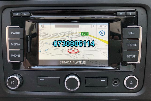 Card harta RNS310 VW versiune 2019 ROMANIA la nivel de sate, comune