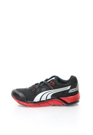 Cadoul ideal adidasi PUMA nr.44,5 pantof sport tenisi negru/rosu cutie