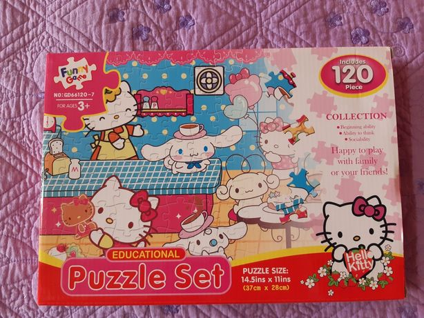 Puzzle 120 piese, Hello Kitty