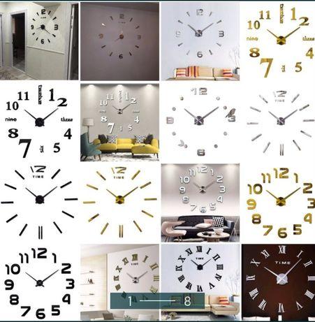 Большие настенные 3д часы