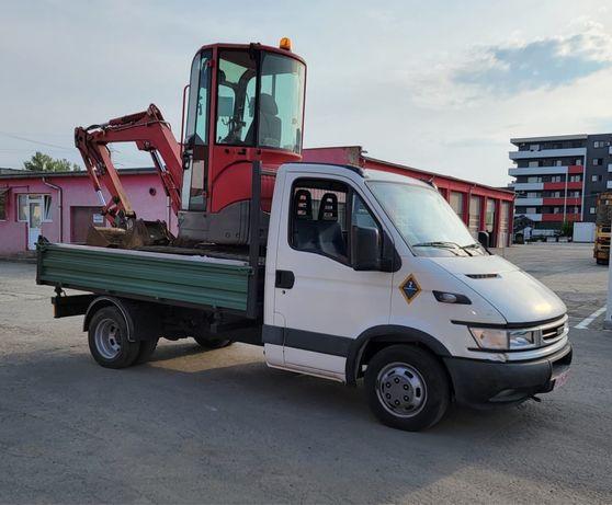 Transport basculabil(trilateral) 3,5 t si inchiriez miniexcavator  3t