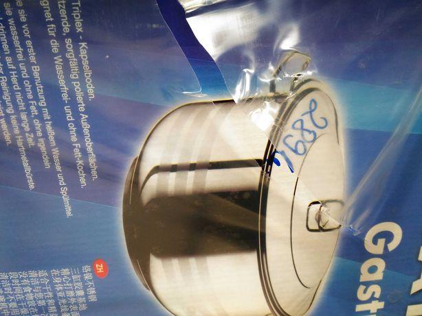 Oală inox cu capac 16,5 litri Promo 115 lei