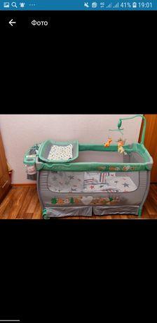 Детский манеж-кроватка
