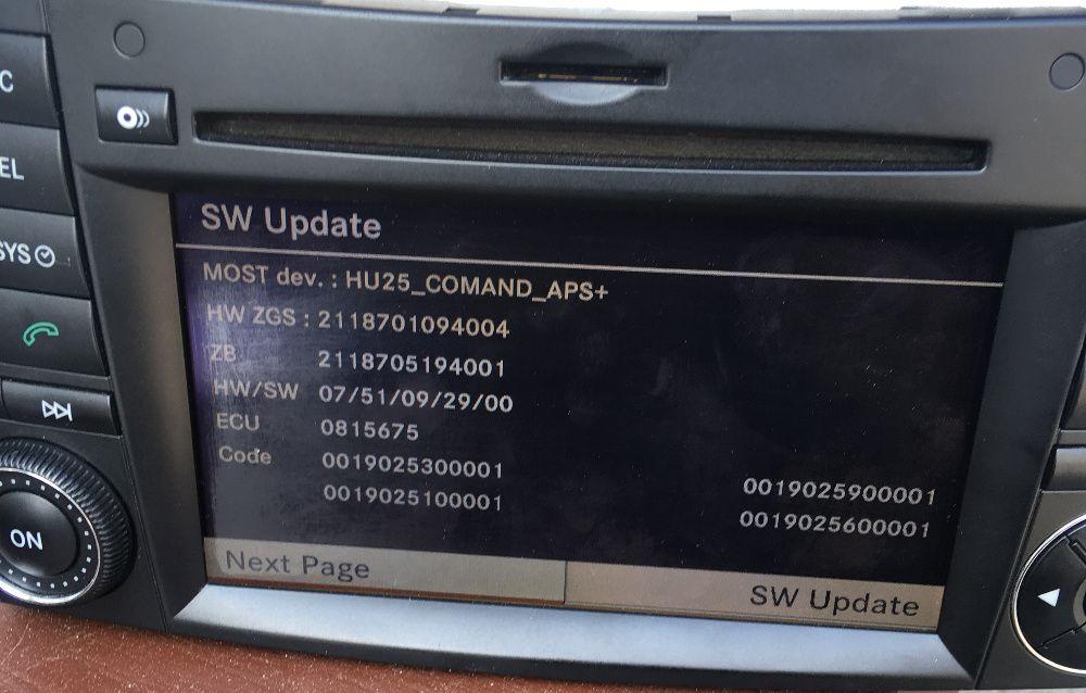 Mercedes ъпдейт 09/29 Comand NTG 2.5 Software Update 09/29 CD 01/2010