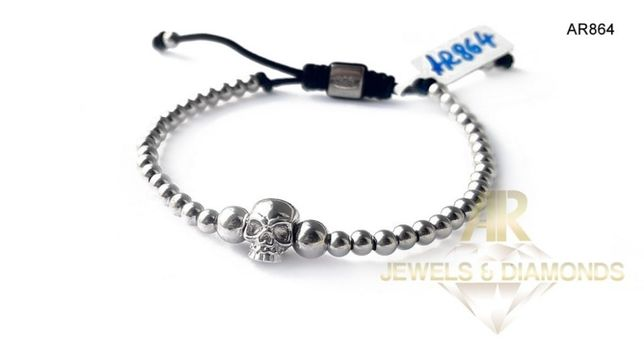 Bratara Argint 925 Rodiat model UNISEX ARJEWELS&DIAMONDS(AR864)