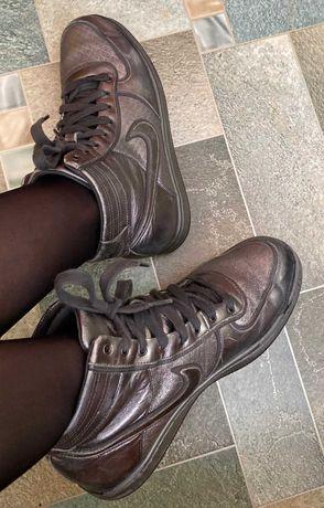 Nike Кожаные Оригинал Кеды Кроссовки Р37 нат кожа