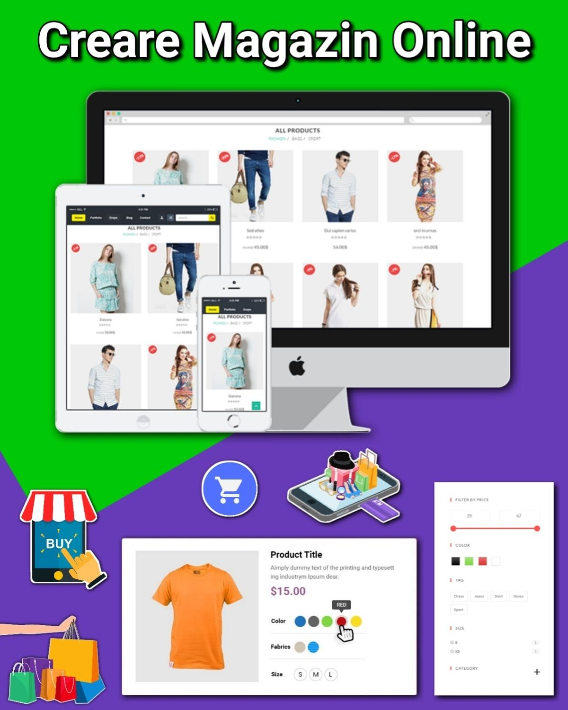 Creare Magazin Online, Website Shop - 1.500 lei