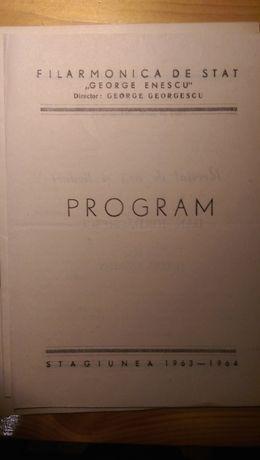 programe filarmonica si conservator anii 1960