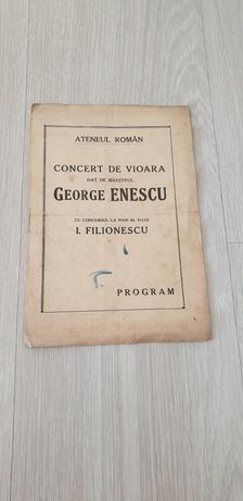 Autograf George Enescu
